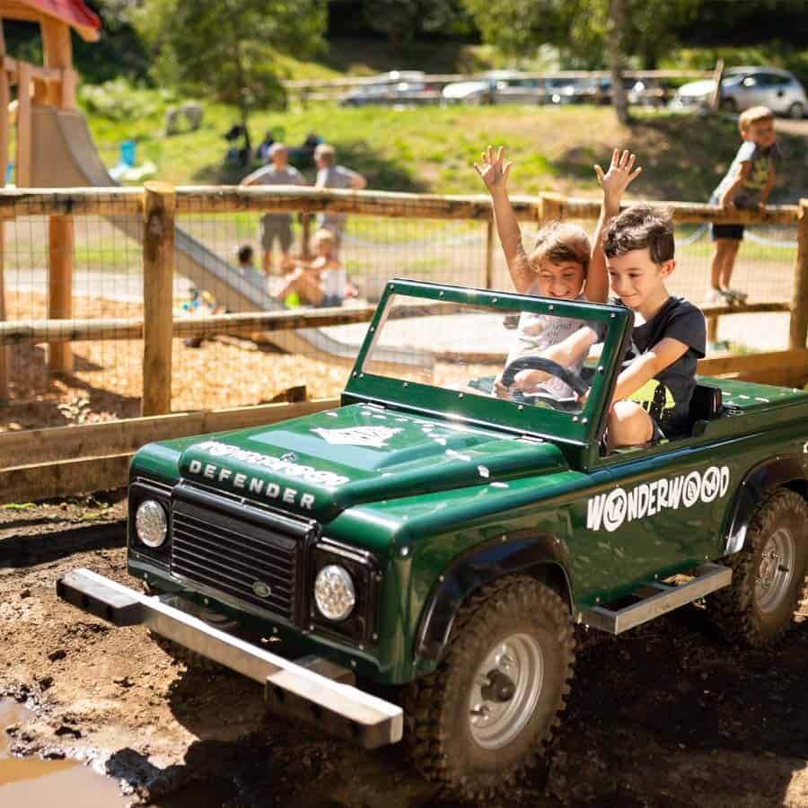 Mini jeep per bambini a Wonderwood - Ranger Trail